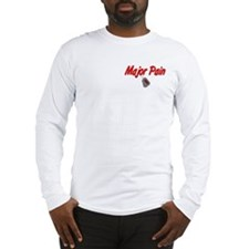 Navy Major Pain Long Sleeve T-Shirt