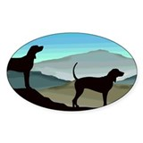 Blue Hills Coonhounds Oval Decal