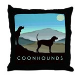 Blue Hills Coonhounds Throw Pillow