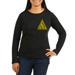Worn Lambda Lambda Lambda Women's Long Sleeve Dark