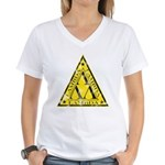 Worn Lambda Lambda Lambda Women's V-Neck T-Shirt