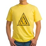 Worn Lambda Lambda Lambda Yellow T-Shirt