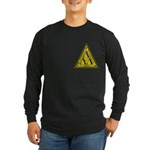 Worn Lambda Lambda Lambda Long Sleeve Dark T-Shirt