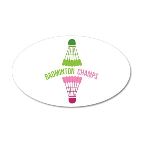 Badminton Champs Wall Decal