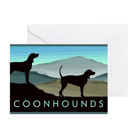 Blue Hills Coonhounds Greeting Cards (Pk of 20)