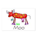 Kid Art Cow Postcards (Package of 8)