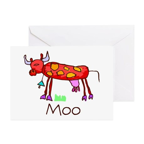 Kid Art Cow Greeting Cards (Pk of 10)