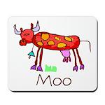 Kid Art Cow Mousepad