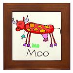 Kid Art Cow Framed Tile