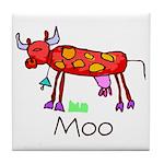 Kid Art Cow Tile Coaster