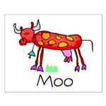 Kid Art Cow Small Poster