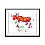 Kid Art Cow Framed Panel Print