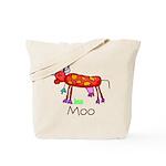 Kid Art Cow Tote Bag