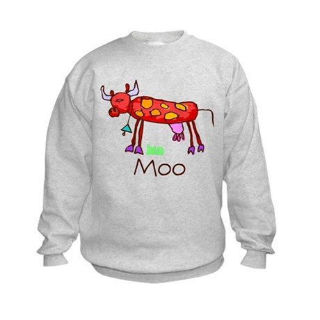 Kid Art Cow Kids Sweatshirt