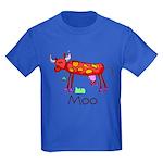 Kid Art Cow Kids Dark T-Shirt