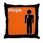iHope (orange) Throw Pillow