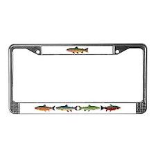 Cutthroat Trout stream License Plate Frame