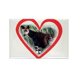 Okapi Heart Rectangle Magnet