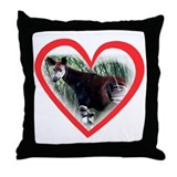 Okapi Heart Throw Pillow