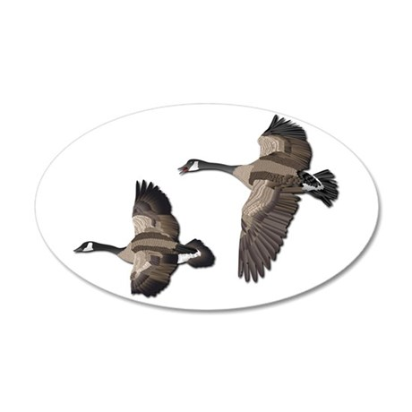 Flying Goose-No Text 35x21 Oval Wall Decal