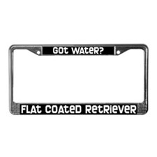 got water? Flat Coated Rtvr License Plate Frame