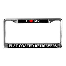 Love Flat Coated Retrievers License Plate Frame