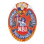 Philippine NBI Oval Ornament