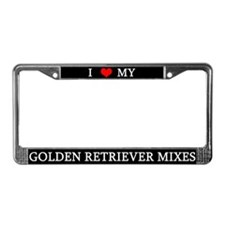 Love Golden Retriever Mixes License Plate Frame