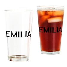 Emilia Digital Name Drinking Glass