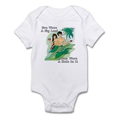 Adam and Eve Infant Bodysuit