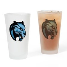 Blue Panther Drinking Glass