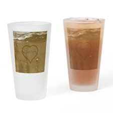 Camron Beach Love Drinking Glass