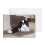 Deluxe Japanese Chin Darling Greeting Cards (Pk o