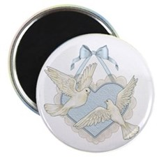 "Wedding Doves 2.25"" Magnet (10 pack)"