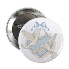 Wedding Doves Button