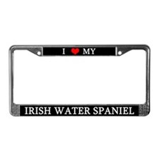 Love Irish Water Spaniel License Plate Frame