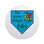 The Green Dragon Ornament (Round)