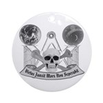 Masonic virtue in black and white Ornament (Round)