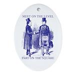 Meeting On the Level - Masonic Blue Ornament (Ova