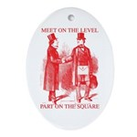 Meeting On the Level Oval Ornament