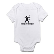 'Chicks Dig Archers' Infant Bodysuit