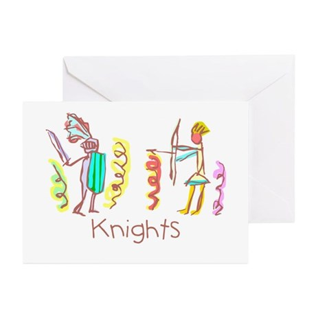Kid Art Battling Knights Greeting Cards (Pk of 10)