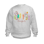 Kid Art Battling Knights Kids Sweatshirt