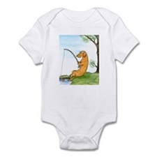 Wirehair Dox Fishing Infant Bodysuit