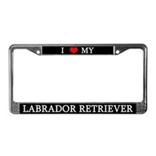 Love Labrador Retriever License Plate Frame