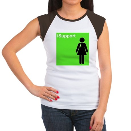 iSupport (lime green) Women's Cap Sleeve T-Shirt