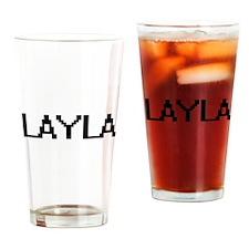 Layla Digital Name Drinking Glass