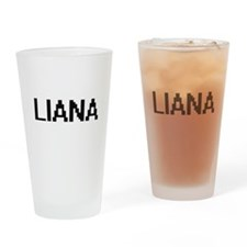 Liana Digital Name Drinking Glass