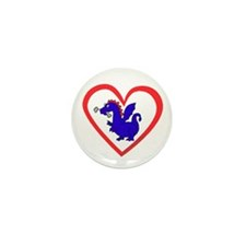 Heart Dragon Mini Button (10 pack)