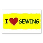 i love sewing Rectangle Sticker